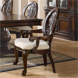 Coaster Tabitha Traditional Arm Dining Chair in Dark Cherry