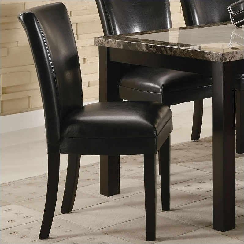 coaster carter upholstered dining chair in black 102262