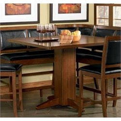 Coaster Lancaster Counter Height Dining Table in Warm Brown