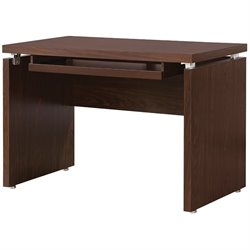 Coaster Peel Computer Desk with Keyboard Tray in Medium Brown Finish