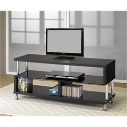 Coaster TV Stands Contemporary Media Console with Glass and Chrome