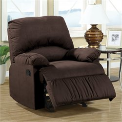 Coaster Casual Microfiber Recliner Chair
