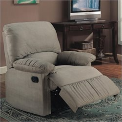 Coaster Casual Microfiber Recliner Chair in Sage