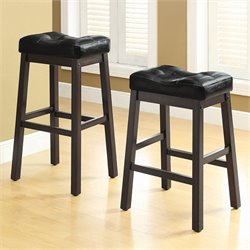 Coaster Sofie Upholstered Seat Bar Stool in Black