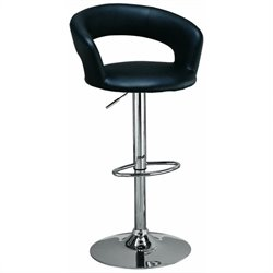 Cutout Back Adjustable Bar Chair
