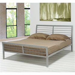 Coaster Stoney Creek Queen Iron Metal Bed in Silver