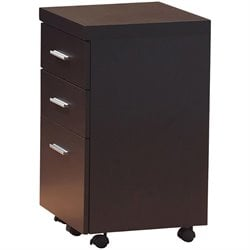 Coaster Papineau 3 Drawer Mobile File Cabinet in Dark Cappuccino