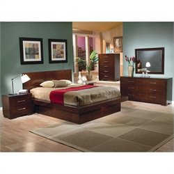 Coaster Joyce Platform Bedroom Set in Light Cappuccino
