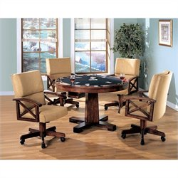 Coaster Marietta 3-in-1 Game Table 5 Piece Set in Dark Oak