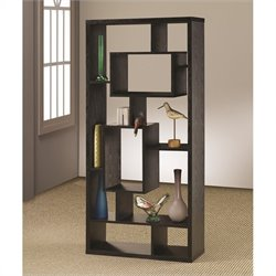 Coaster Contemporary Asymmetrical Cube Bookcase Black Finish