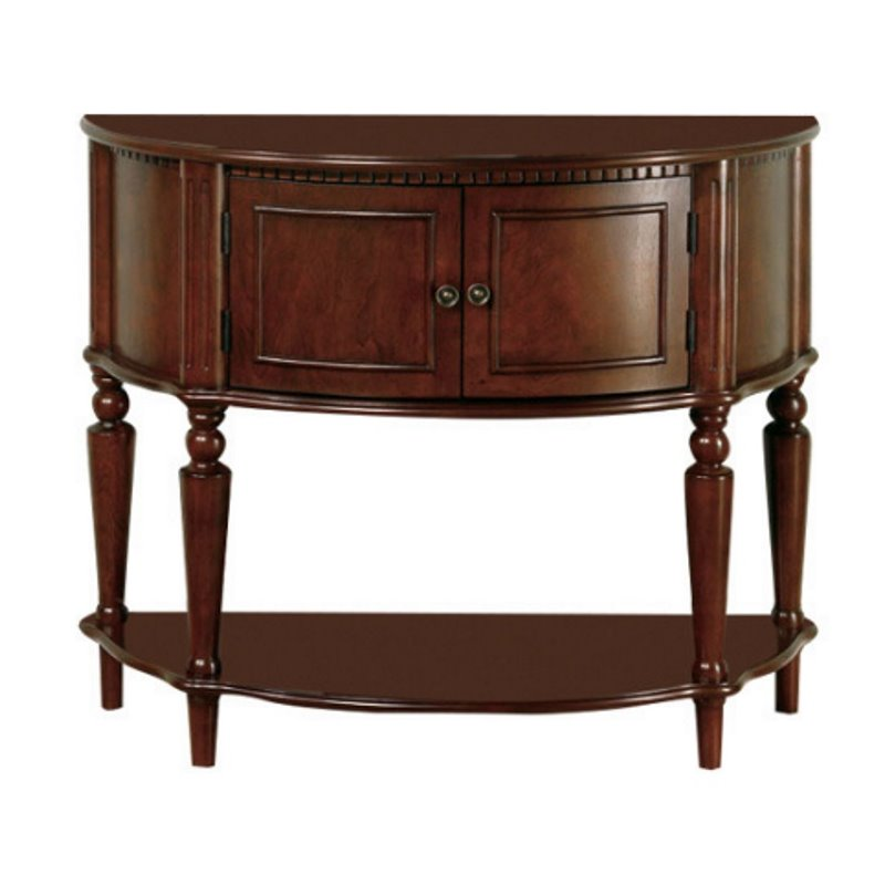Foyer Furniture For Storage : Coaster storage entryway console hall table in brown