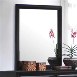 Coaster Briana Vertical Mirror in Glossy Black