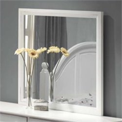 Coaster Kayla Dresser Mirror in Distressed White