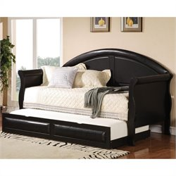 Coaster Classic Daybed with Trundle in Black