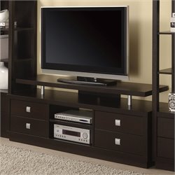 Coaster Casual TV Console in Cappuccino
