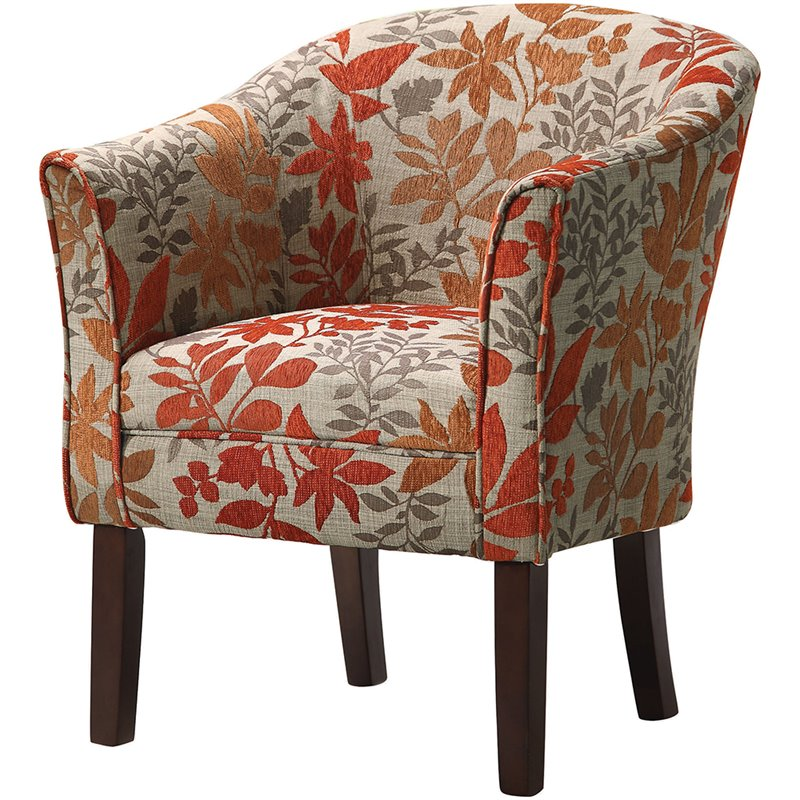 Coaster Barrel Club Chair in Autumn Floral Pattern