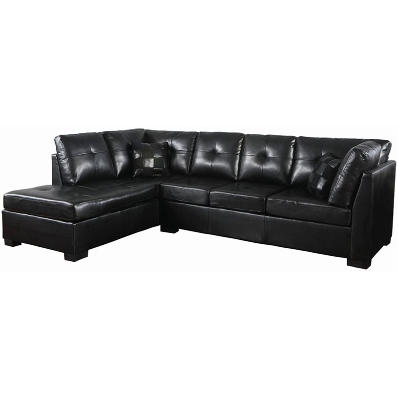 Coaster Darie Leather Sectional Sofa with Left Side Chaise  : 428888 L from www.cymax.com size 798 x 798 jpeg 98kB