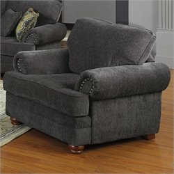 Coaster Colton Traditional Upholstered Club Chair in Gray