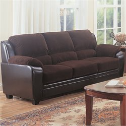 Coaster Monika Stationary Sofa in Chocolate
