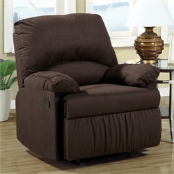 Coaster Microfiber Upholstered Glider Recliner Chair