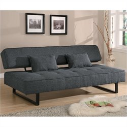 Coaster Contemporary Armless Sofa in Gray