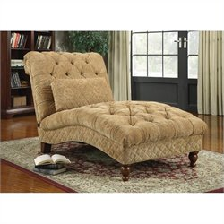 Coaster Accent Seating Golden Toned Accent Chaise in Desert Sand