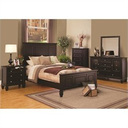Coaster Sandy Beach Bedroom Set in Cappuccino Finish 2