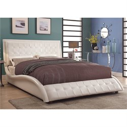 Coaster Tully Upholstered Bed in White
