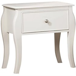 Coaster Dominique 1 Drawer Nightstand in White Finish