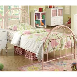 Coaster Juliette Twin Metal Bed in Pink