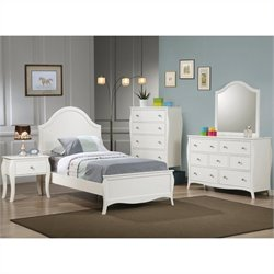 Coaster Dominique Bedroom Set in White Finish