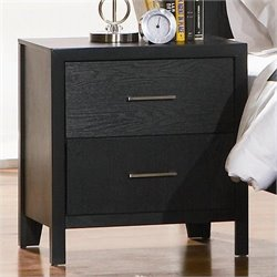 Coaster Grove 2 Drawer Nightstand in Black Finish