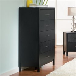 Coaster Grove 5 Drawer Chest in Black Finish