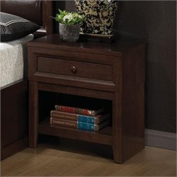 Coaster Remington 1 Drawer Nightstand in Chery Finish