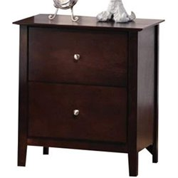Coaster Tia 2 Drawer Nightstand in Warm Cappuccino Finish