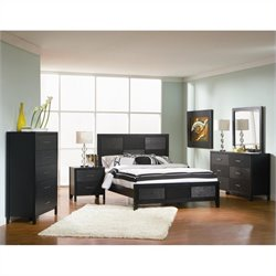 Coaster Grove Bedroom Set in Black Finish