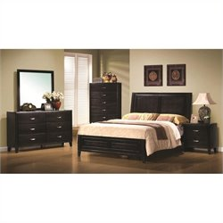 Coaster Nacey Bedroom Set in Brown Black Stain