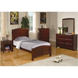 Coaster Parker 3 Piece Panel Bedroom In Deep Dark Cappuccino Finish
