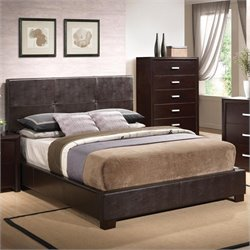 Coaster Andreas Vinyl Padded Bed in Cappuccino Brown
