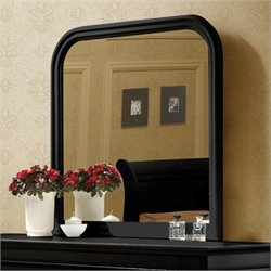 Coaster Louis Philippe Vertical Mirror in Black