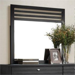 Coaster Richmond Slat Landscape Mirror in Black