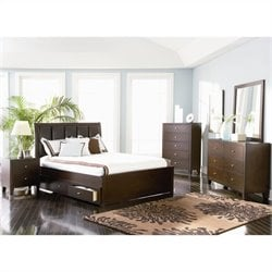 Coaster Lorretta Bedroom Set in Dark Brown