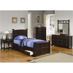 Coaster Jasper Bedroom Set in Rich Cappuccino Finish
