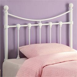 Coaster Youth Twin Metal Headboard in White