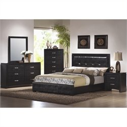 Coaster Dylan Bedroom Set in Black