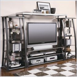 Coaster Contemporary Metal and Glass Entertainment Center