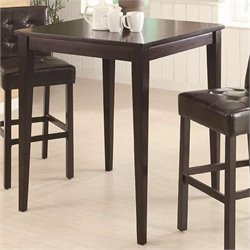 Coaster Bar Height Square Pub Table in Cappuccino