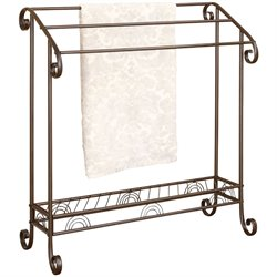 Coaster Dark Bronze Metal Towel Rack