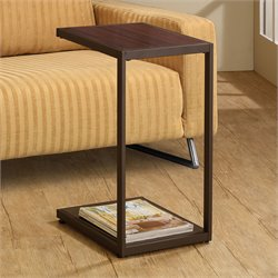 Coaster Dark Brown Rectangular Snack Table