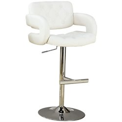 Tufted with Arms Adjustable Height Barstool